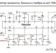 Предварительный усилитель с темброблоком на TDA1524